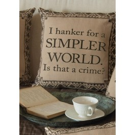 Downton Abbey Simpler World Pillow