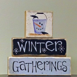 Winter Gathering Sign Blocks