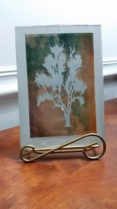 Paper Photo Decor (in a glass frame)