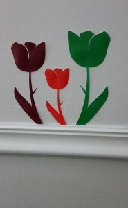 Flower Wall Decals (created with Photoshop)