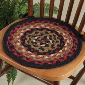 Connected Circles Braided Chair Pad