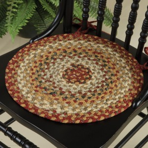 Country Spice Cotton Braided Chair Pad