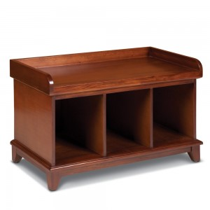 Sturbridge Exclusive Cubby Storage Bench in Stain
