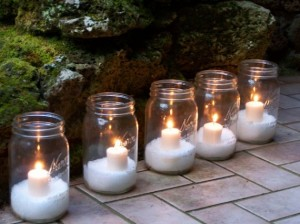Epsom Salt Mason Jar Lights