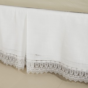 Macrame Lace Bed Skirt