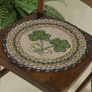 Sheep & Shamrock Braided Jute Chair Pad