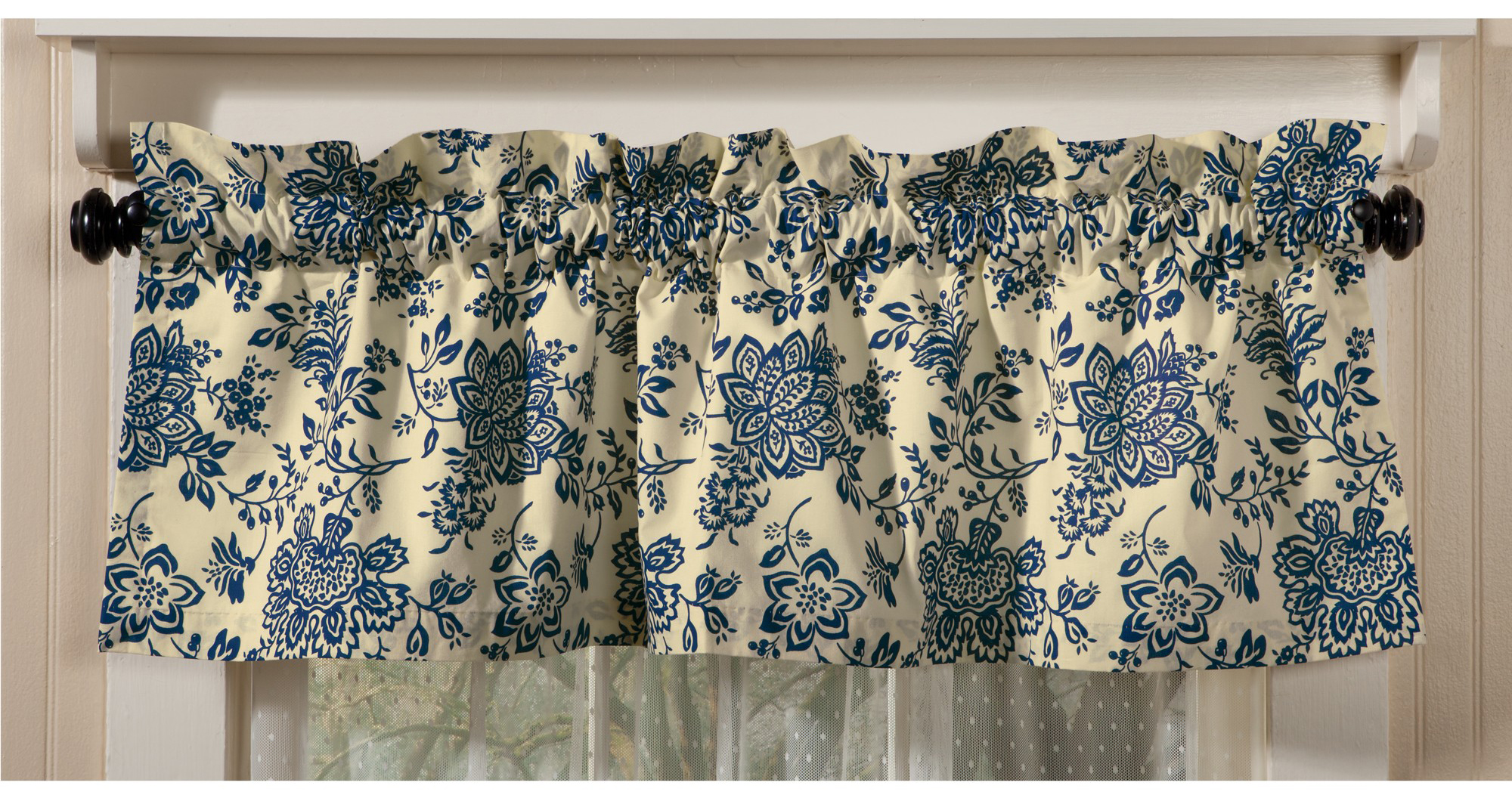 Anniversary Blue Floral Valance
