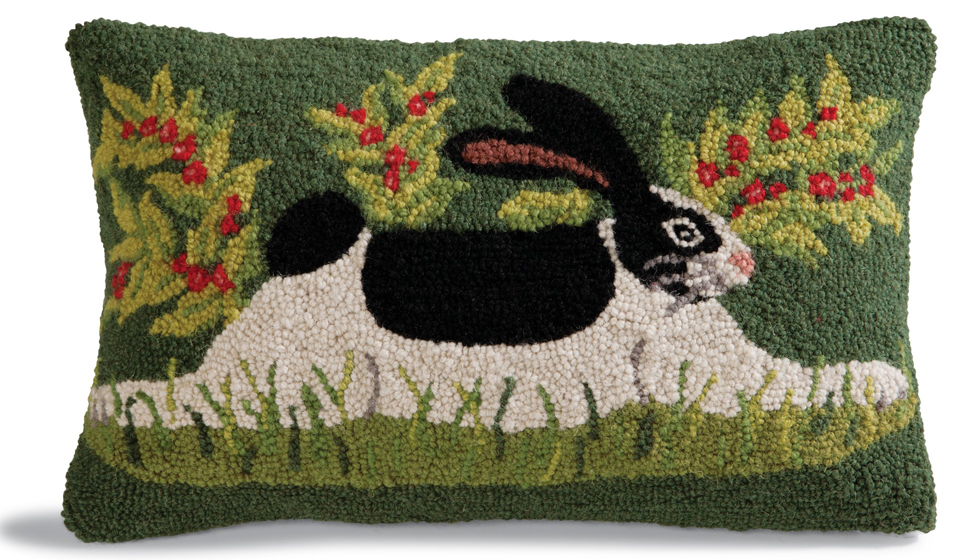 Green Bunny Pillow