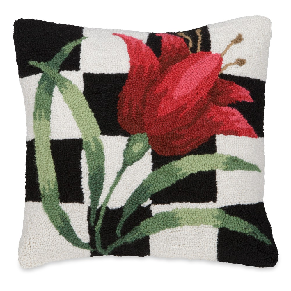 Tulip Checker Pillow
