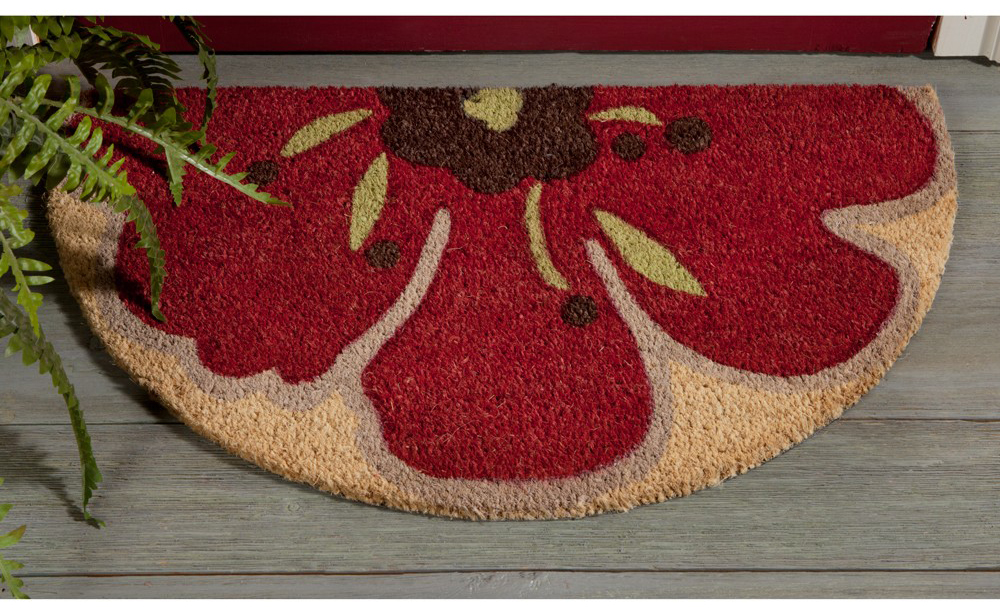 Red Poppy Doormat