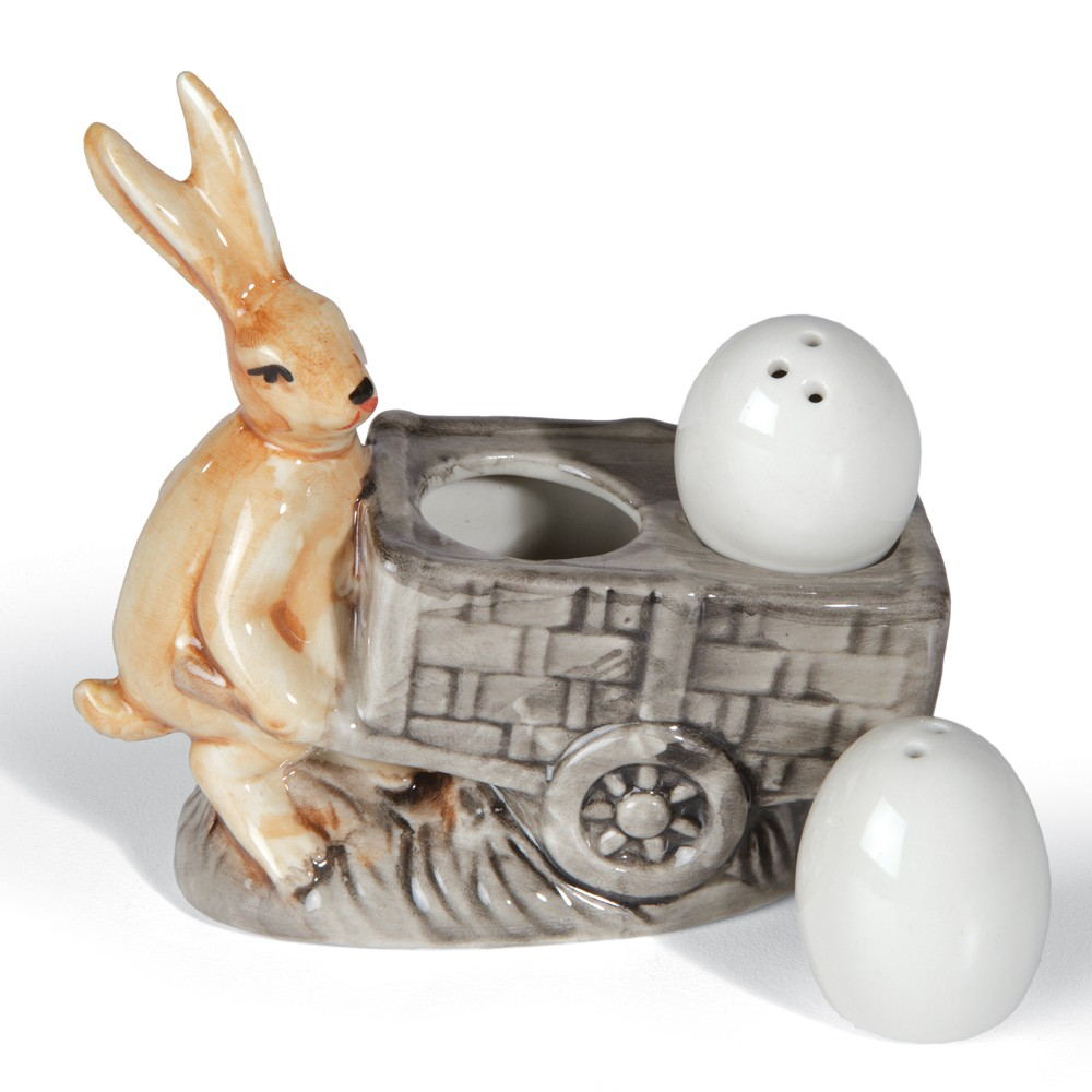 Rabbit with Eggs Salt & Pepper Shakers
