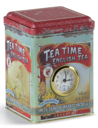 Tea Time Clock Tin