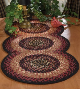 Connected Circles Braided Table Runner