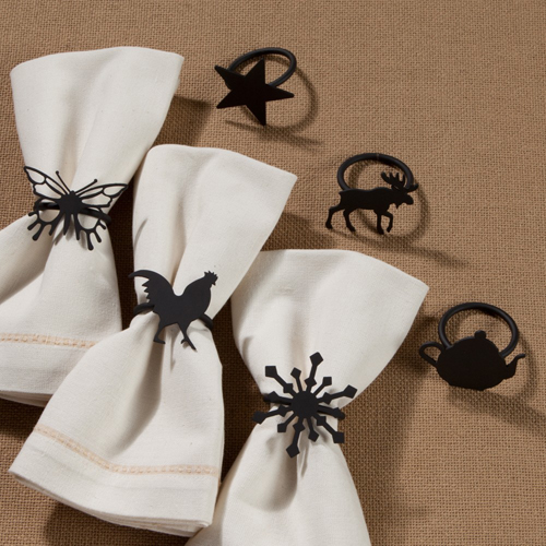 Wrought Iron Napkin Rings