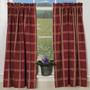 Check & Stars Curtains (Tiers)