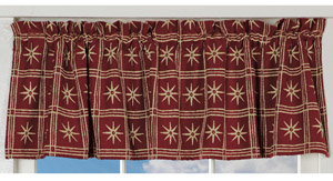 Check & Stars Curtains (Valance)