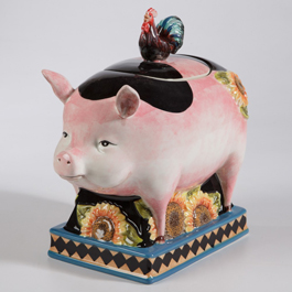 French Country Pig Cookie Jar