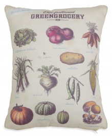 Vintage Vegetables Pillow