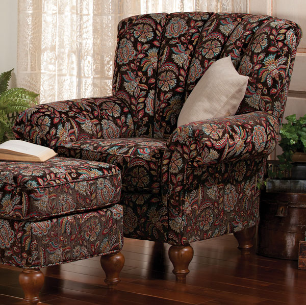 Berkshire Chair and Ottoman Set