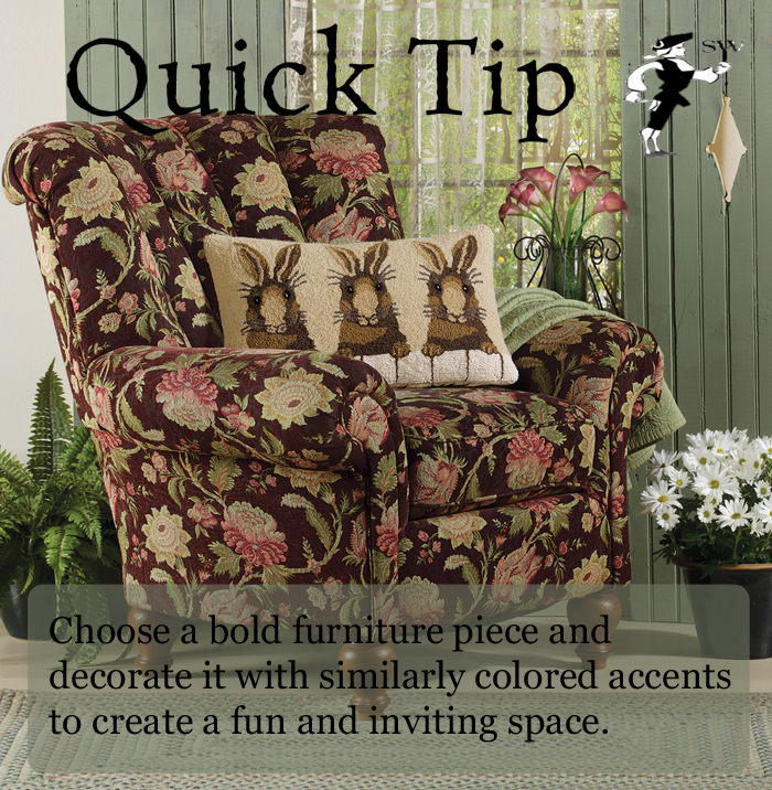 Quick Tip: Statement Furniture