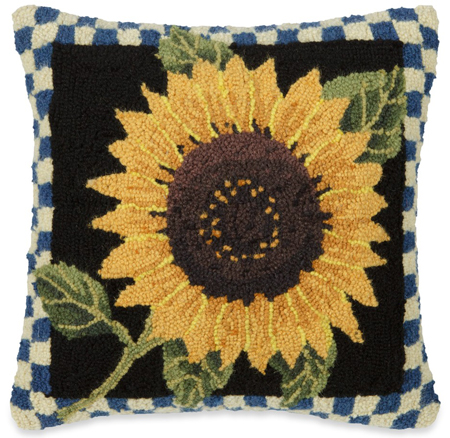 Sunflower Check Pillow