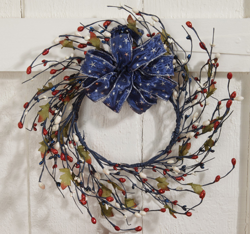 July Festival Wreath (set of 2) shown with Stars Ribbon