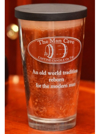 Man Cave Glass Candle