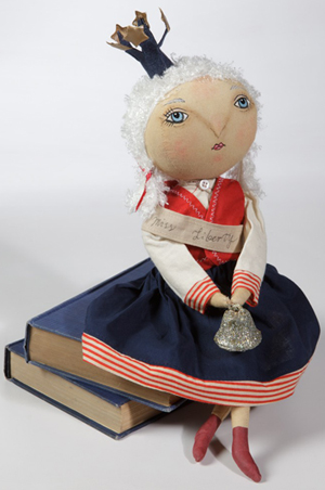 Little Miss Liberty Patriotic Soft Sculpture