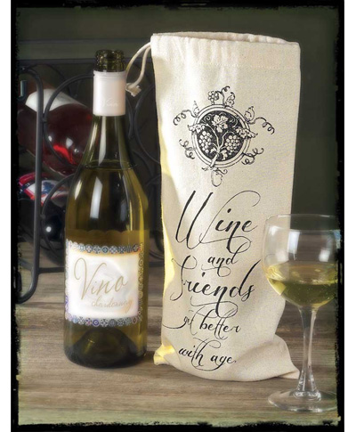Wine and Friends Bottle Sack