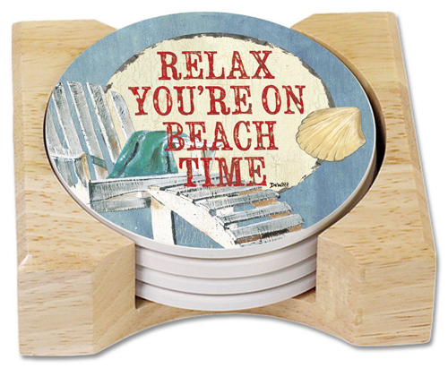 Beach Time Coaster Set