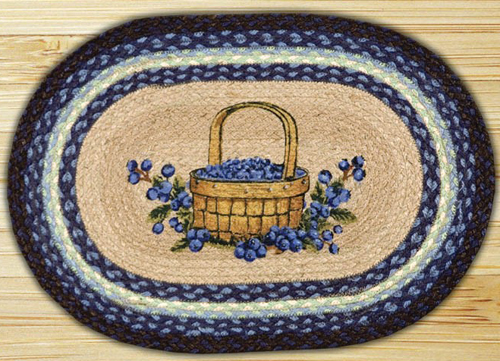 Blueberry Basket Jute Placemat