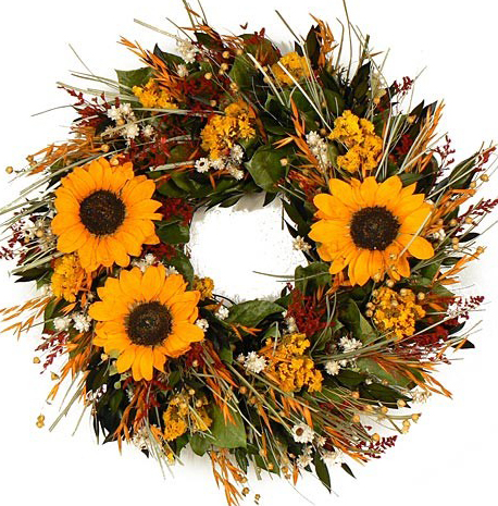 Triple Sunflower Wreath
