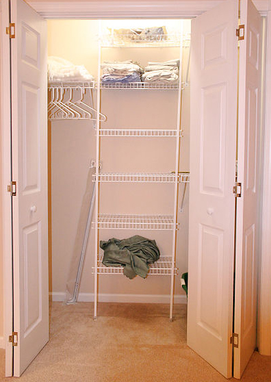 Empty your closet to make organizing easier