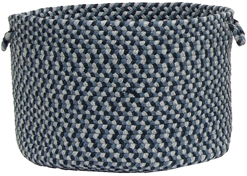 Boston Common Braided Utility Basket in Blue