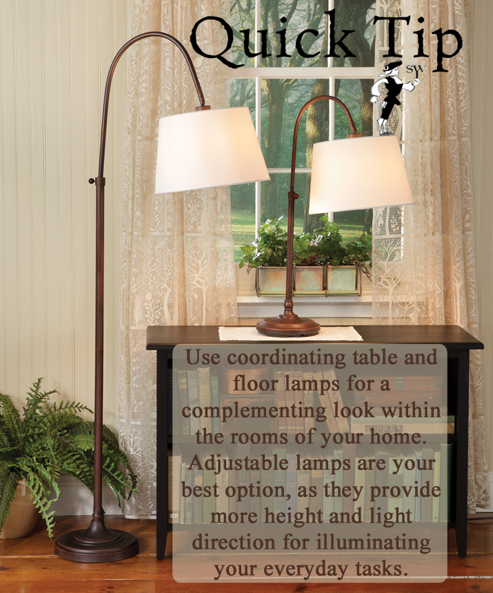 Quick Tip: Coordinating Adjustable Lamps