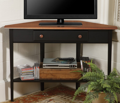 Country Shaker Corner TV Stand