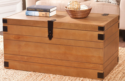 Stockton Oak Cocktail Storage Trunk