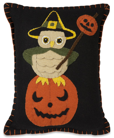 Witchy Owl & Pumpkin Pillow