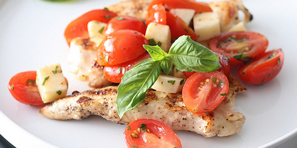 "Creative Commons ""Grilled Chicken Caprese"" by esimpraim / Cropped from original"