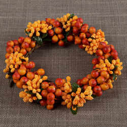 Large Autumn Berry Candle Ring