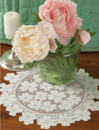 Dogwood Lace Tabletop Accents: Doily