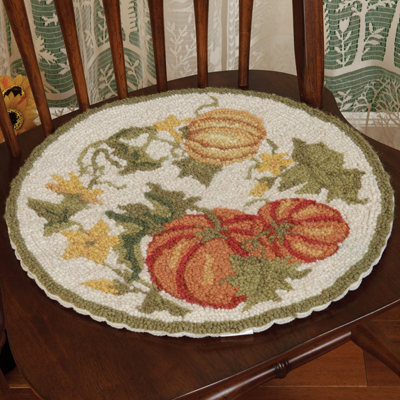 Pumpkins & Vines Chair Pad