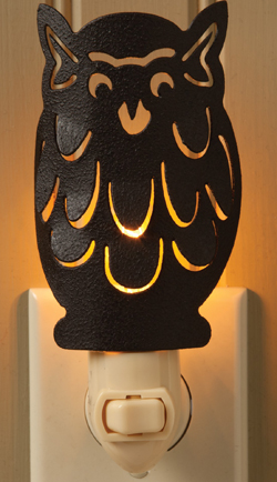 Metal Owl Night Light