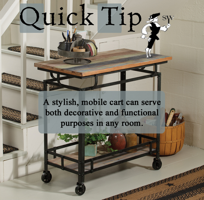 Quick Tip: Cart Decor and Storage