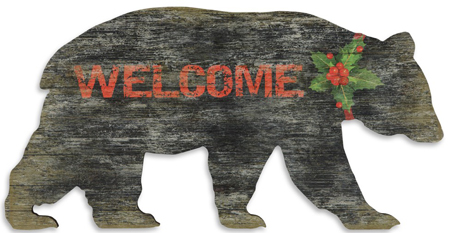 Welcome Bear Wall Sign