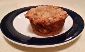 Apple Muffin with Crumble Topping