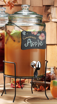 Beverage Dispenser with Chalkboard Label & Stand