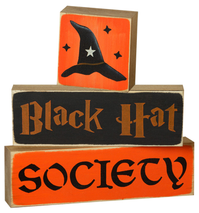 Black Hat Society Sign Blocks