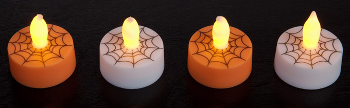 Spider Web Tealights Set