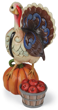 Gobble & Be Grateful Turkey Figurine